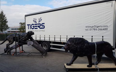 Larger-Than-Life Leopard Leaps From South Africa To The United Kingdom With Help From Tigers
